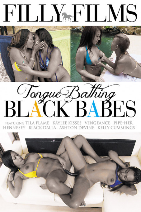 Tongue Bathing Black Babes